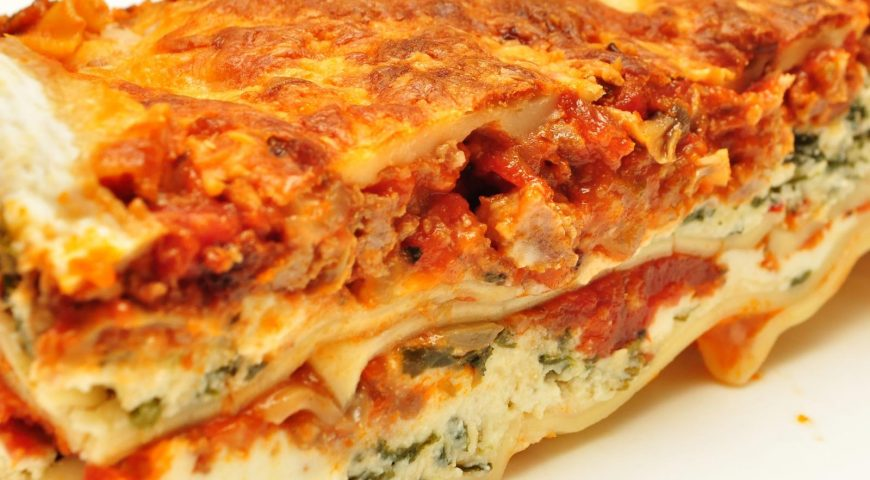 Wednesday – Homemade Lasagna